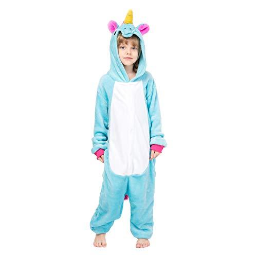 RONGTAI Kids Unisex Animal Flannel Unicorn Onesie Pajamas Cosplay Costume(95#(43