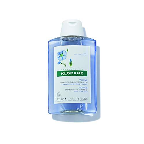 - Klorane Volumizing Shampoo with Flax Fiber, Adds Lift & Texture to Fine Flat Hair, Paraben, Silicone, SLS Free, 6.7 oz.