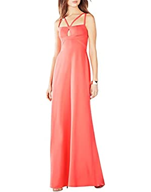 BCBG Max Azria Womens Kelbie Strappy Keyhole Evening Dress!