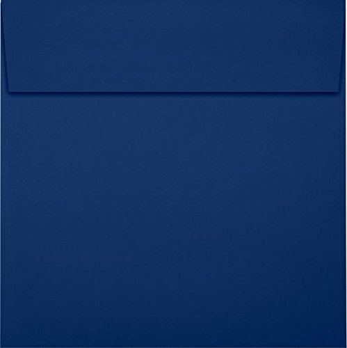 6 x 6 Square Envelopes - Navy (50 Qty) | Perfect for Invitations, Announcements, Greeting Cards, Photos | LUX-8525-103-50