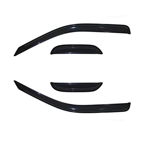 2011 Gmc Canyon Extended Cab - 4pcs for 2004-2012 Chevrolet Colorado Extended Cab & 2004-2012 GMC Canyon Extended Cab Smoke Sun Wind Rain Guard Vent Shade Reflector Window Visors by JM
