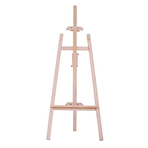 Aibecy Durable Art Artist Wooden Easel Drawing Stand Pine for Painting Sketching Display Exhibition - Wood Tripod Stand