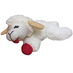 "Multipet Lamb Chop Cat Toy 4"""