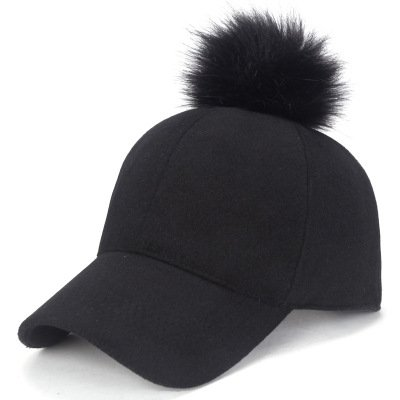 QETUOAD Newest Baseball Cap Women Winter Snapbacks Hip Hop Girls Hat Warm Female Felt Hats Solid