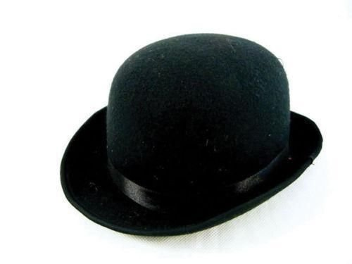 Deluxe Derby Adult Hat (Jacobson Hat Company Men's Adult Deluxe Felt Derby (4.5 Inch Tall), Black, Adult Large)