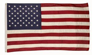 5x8 Foot U.S. American Flag Valley Forge Flag Duratex II Poly High Wind Fully Sewn