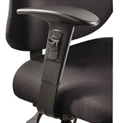 - Height/Width-Adjustable T-Pad Arms for Alday 24/7 Task Chair, Black, 1 Pair