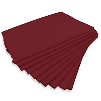 "physiofit24 ® ""Premium pp70 Lavado faserlaken Vellón sábana de color rojo rubí rojo"
