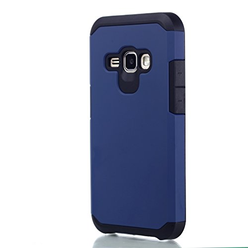 J1 Case,Samsung Galaxy J1 Protective Case,Samsung J1 Hard Cover Case,Hybrid Dual Layer Armor Defender Protective Case Cover for Samsung J120 Phone Case,Dark Blue