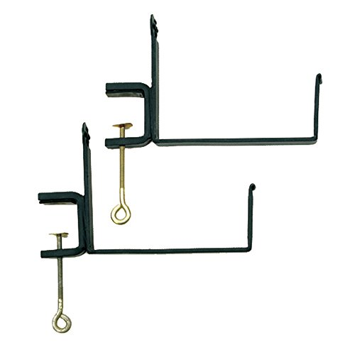 Achla Designs Window Flower Box Clamp-On Brackets, 8 inch, (Wrought Iron Window Flower Boxes)