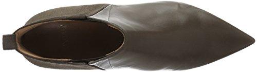 Oxitaly Sandra 24, Zapatillas de Estar por Casa para Mujer Marrón - Braun (Taupe/donkey)