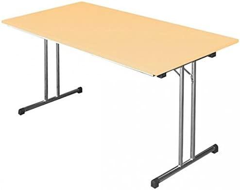 Lüllmann 350520 - Mesa plegable Mesa Escritorio 120 x 80 Arce ...