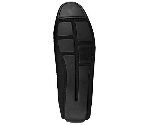 Pilote Paisley Métallisé Et Noir Pour Homme Damali, Chaussure Confortable De Conduite De Loafer De Robe, Style Brunswick Royal