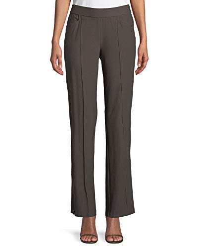Eileen Fisher PLUS Rye Washable Stretch Crepe Slim Boot-Cut Pants Size 3X MSRP $188