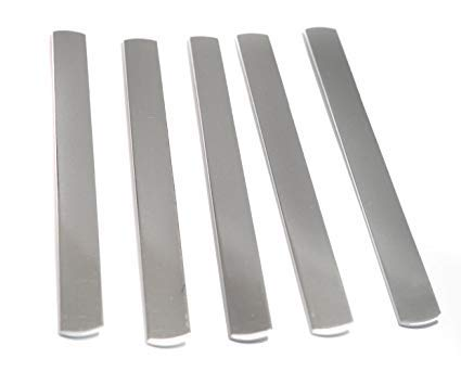 180 Aluminum Bookmarks, 1/2'' Wide, RAW, with 1/8'' Hole