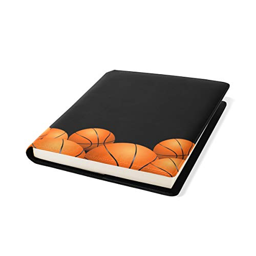 Jumbo Size Book Covers Notebook Textbook School Supplies Office Homecoming Black Basketball by TaTaisu