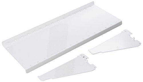 - Wall Control Pegboard Shelf 6in Deep Pegboard Shelf Assembly for Wall Control Pegboard and Slotted Tool Board - White