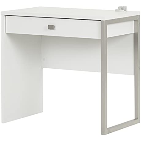 South Shore Interface Desk With 1 Drawer Pure White