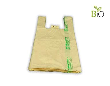 Bolsa asa camiseta compostable galga 70 400x500mm 500 Unidades ...