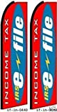 Pack of (2) IRS E-File Feather Banner Flags For Sale