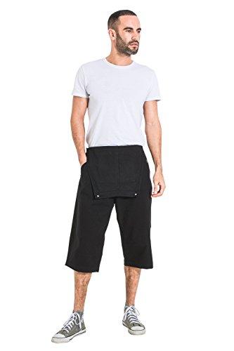 Uomo Pantaloncini Christophershortblack Fit Loose Uskees Salopette Corte Nero 61wSqx