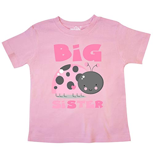 - inktastic - Pink Ladybug Big Sister Toddler T-Shirt 4T Pink 1d276