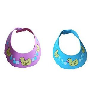 f485bba93f2 Lightahead Set of 2 Safe Shampoo Duck Baby Shower Cap Bathing Protection  Soft Cap Hat Wash