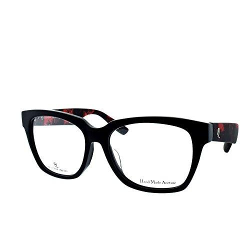 Alexander McQueen MCQ 0041/F SRZ Black Red Lumberjack Square - Mcqueen Eye Frames Alexander