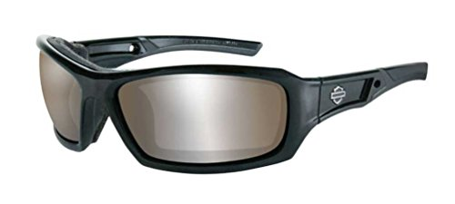 Harley-Davidson HD Echo PPZ Silver Flash Copper Lens in a Gloss Black Frame Sunglasses