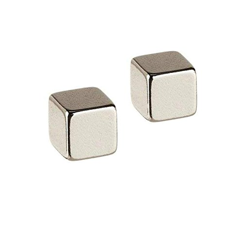 LeoTube Replacement Mini Small Cube Magnet for Magnetic Thinking Putty and Magnetic Slime Ferrofluid, Magnetic Pushpin Toys Accessories