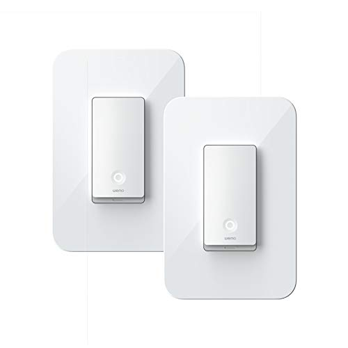 Wemo Wi-Fi Light Switch 3-Way 2-Pack Bundle - Control Lighting from Anywhere, Easy in-Wall Installation, Works with Alexa, Google Assistant and Apple HomeKit (WLS0403-BDL)