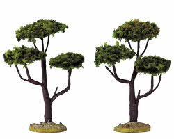 Lemax Village Collection Cypress Set of 2 Small 4 inch #34929
