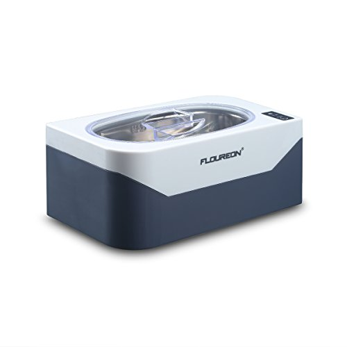 Ultrasonic Cleaner 400ml Professional Jewelry Cleaner Machine One-Click Operation 3-Minutes Auto Timer Polishing Jewelry Rings Necklace Eyeglass Watches Razors Denture Coins Parts(40KHz, 35W)