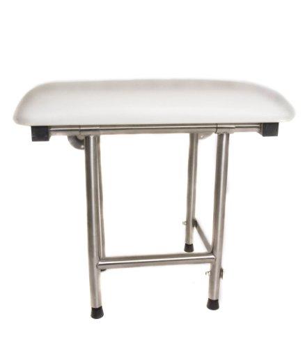 CSI Bathware SEA-SD2216-NH-PA ADA Bathroom Shower Bath Seat, Folding, Wall-Mounted, Rectangular, Padded Seat, 22-Inch by 16-Inch