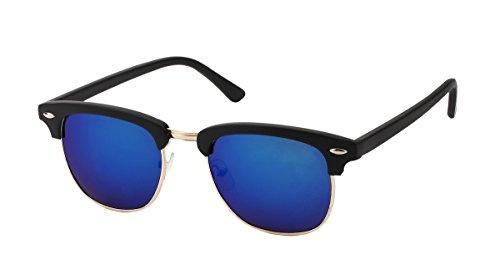 Clubmaster miroir noir colorés miroir style verre bleu 7816 Lunettes w6qEFBaWdw