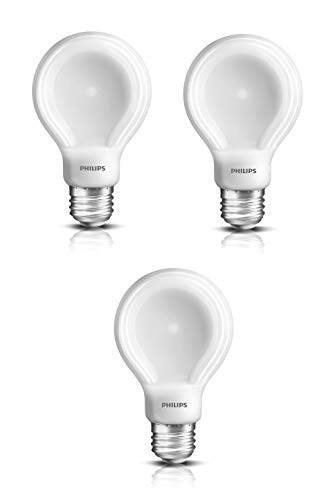 Philips 60-Watt Equivalent SlimStyle A19 LED Light Bulb Soft White, Dimmable (3 Pack)