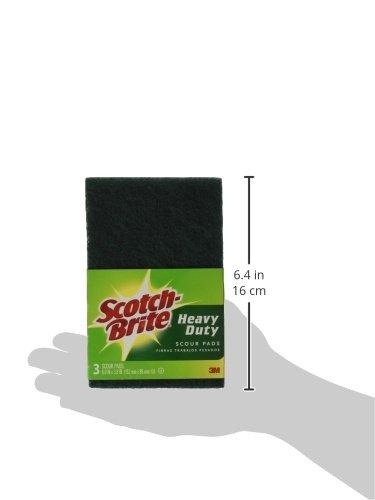 """Scotch-brite 223 Heavy Duty Scour Pad, 6"""" X 3.8"""", 3-pack"""