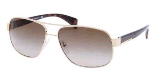 Prada Sunglasses - PR52PS / Frame: Pale Gold Lens: Grey - Gold Prada
