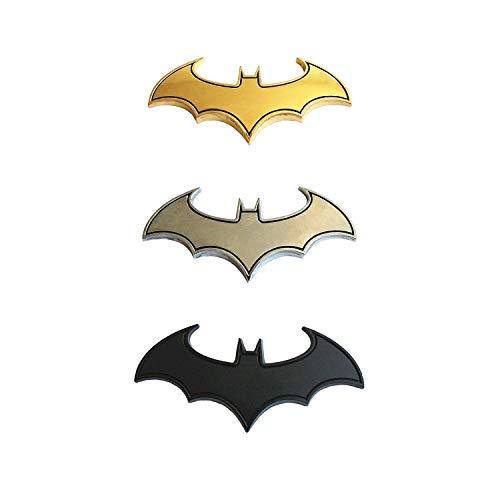 Energy power shop 3Pcs DIY 3D Bat Metal Sticker Auto Emblem Car Motorcycle Logo Badge Decals (3.15