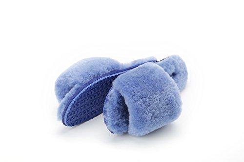Pantofole Da Donna Chic Di Lusso Per Donna Di Lusso Ws-02 Blu