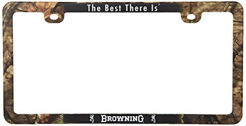 Browning License Plate Frame, Mossy Oak Break-Up Country, Universal ()