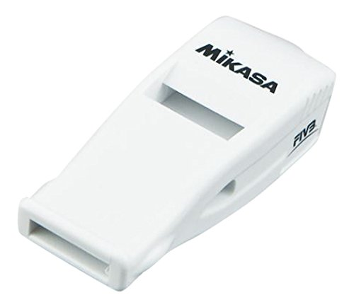 Mikasa Beatmaster Professional Whistle with Lanyard, White, Official Size