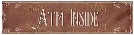 ATM Inside 12x3 Victorian Card Heavy-Duty Outdoor Vinyl Banner CGSignLab