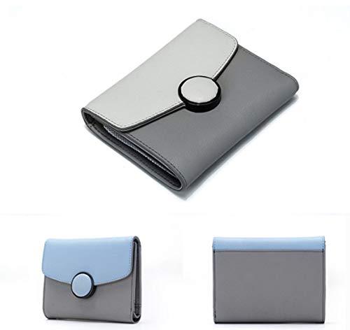 color Minimalista Color Blue Pelle Tasca Pastello Uomo Gray In Da Lindanig Portafoglio Dark wqU8n41zz