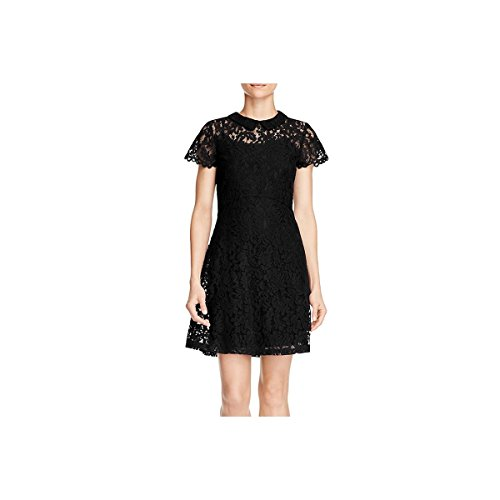 Alison Andrews Womens Lace Collared Party Dress Black S