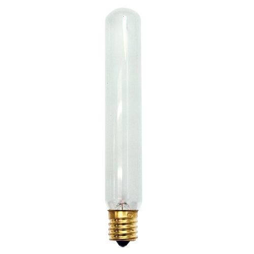 24PK Bulbrite 707301 20T6.5F/N 20-Watt Incandescent T6.5 Tube Exit Light, Intermediate Base, Frost