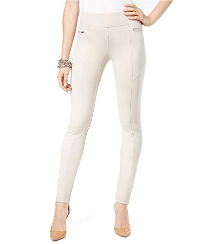INC International Concepts Women's Curvy-Fit Skinny Moto Pants (Toad Beige, 18) from INC International Concepts