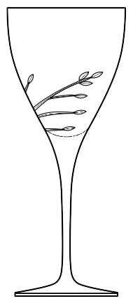Vera Leaf Goblet - Wang Vera Goblet Crystal