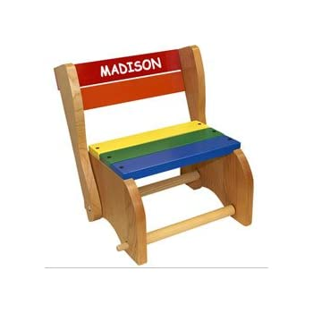 Amazon Com Personalized Classic Step Stool Chair Toys