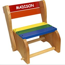 babykidsbargains Personalized Classic Step Stool Chair